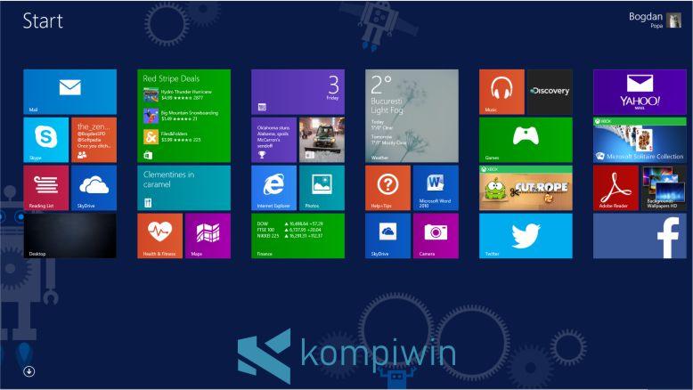 Layar Desktop Windows 8.1