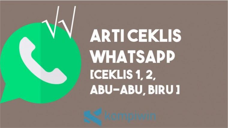 Arti Ceklis WhatsApp