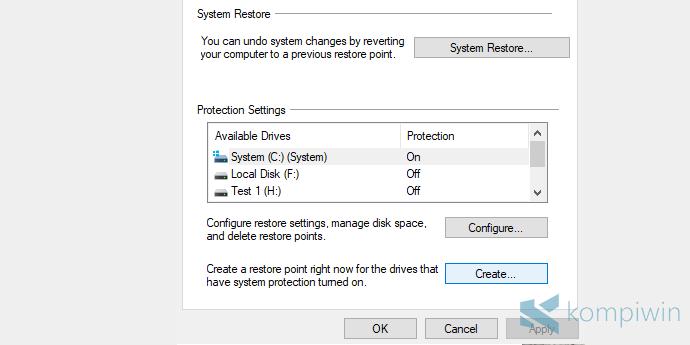 Cara Mengembalikan Kondisi Komputer Seperti Semula dengan System Restore di Windows 10, 7, 8.1 2