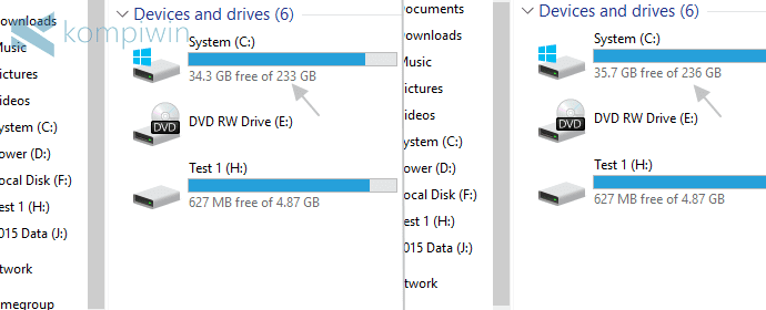 Cara Menambah Kapasitas Partisi Drive (C:), Drive (D:), atau Semua Partisi Hard Disk di PC/Laptop 8