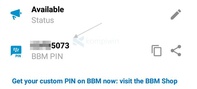 Cara Melihat PIN BBM Milik Sendiri di Android/iPhone 1