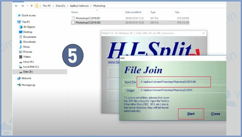 Pilih File Part 01 Yang Akan Digabungkan Menjadi 1 Folder - Cara Ekstrak File Part (.part01) Agar Menjadi 1 Folder dengan HJSplit