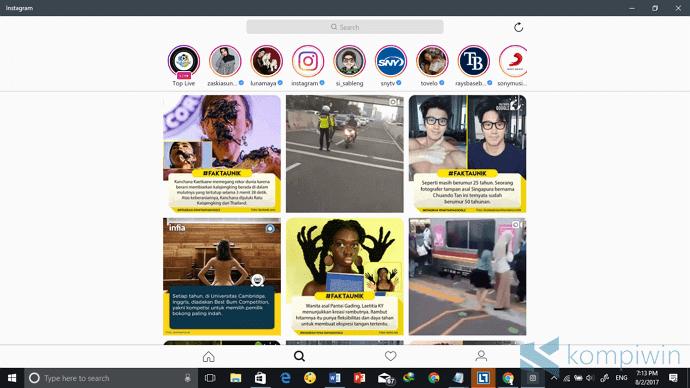 Cara Download & Install Instagram di PC/Laptop tanpa BlueStack atau Emulator Android Lainnya 1