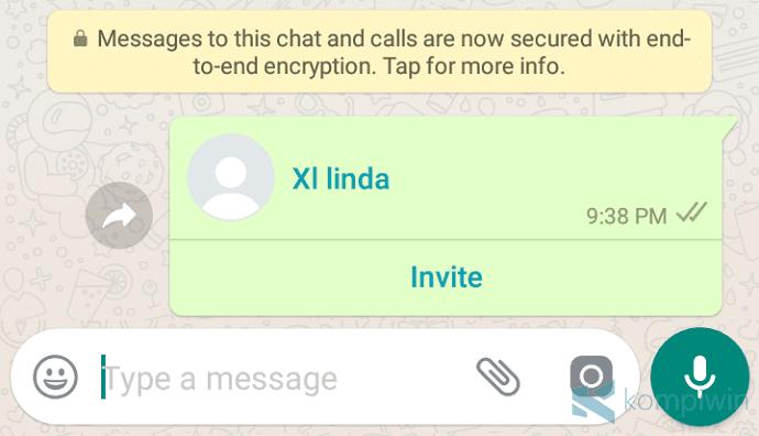 Cara Share atau Mengirim Kontak WhatsApp dengan Mudah 8