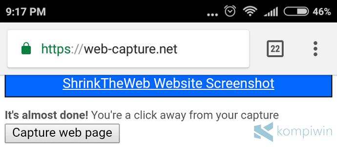 Cara Screenshot Halaman Web Full Page di Android pada Semua Browser 6