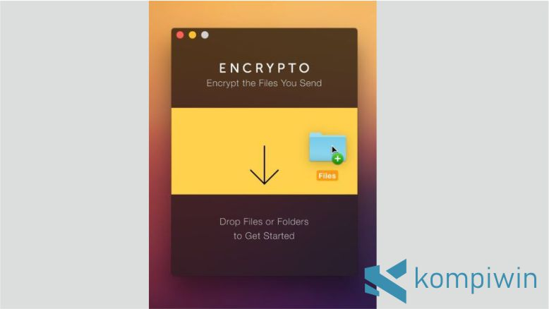 Langkah 1. Cara Mengunci Folder di Mac OS dengan Encrypto