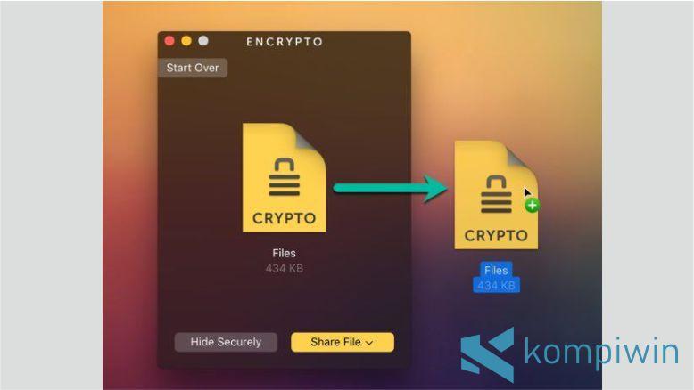 Langkah 3. Cara Mengunci Folder di Mac OS dengan Encrypto