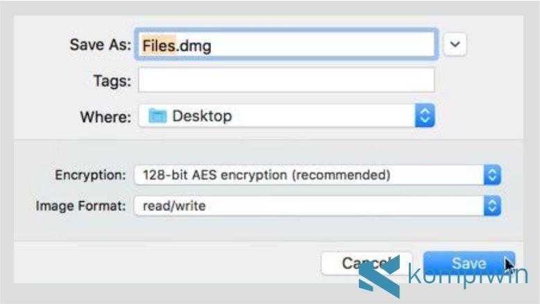 Langkah 4. Cara Mengunci Folder di Mac OS dengan Disk Utility