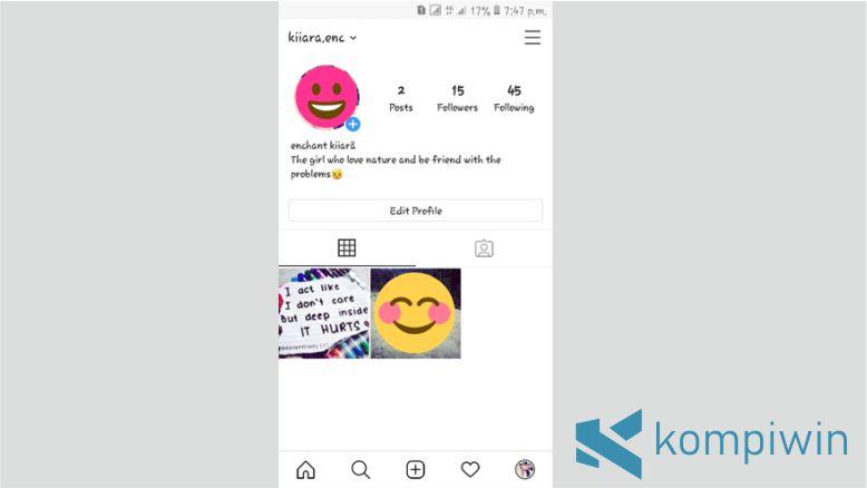 Buka Halaman Profil Akun Instagram