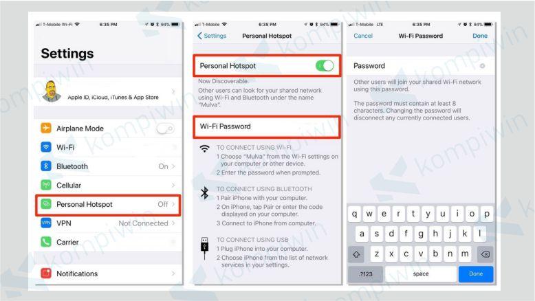 Buka Pengaturan iPhone dan Aktifkan Personal Hotspot