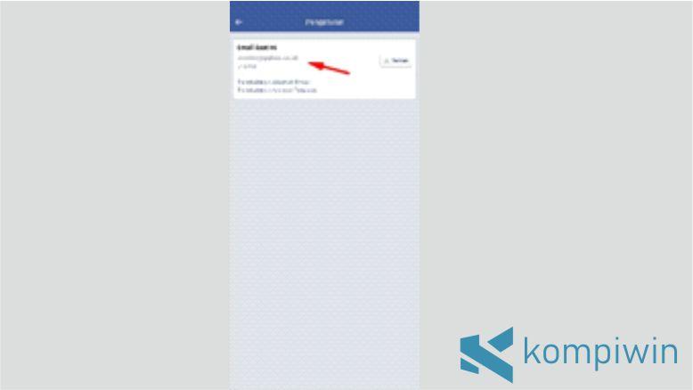 Email Facebookmu akan Terlihat