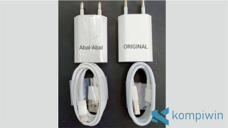 Gunakan charger iPhone yang original