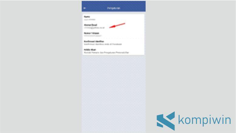 Informasi Email Facebook akan Muncul