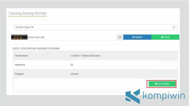 Klik See Details untuk Mengetahui Informasi Lebih Lengkap Standard Express