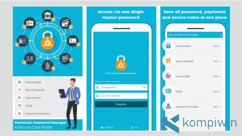 PassVault Password Manager & Secure Card Wallet