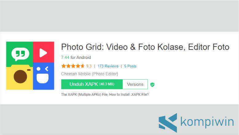 Photo Grid untuk Gabung Foto