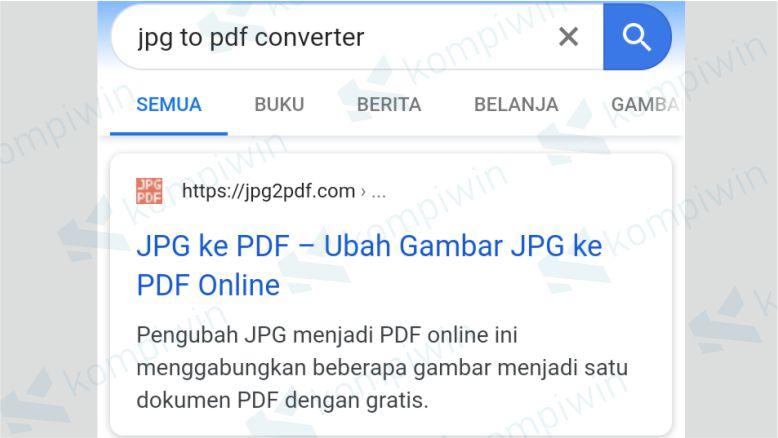 Buka situs jpg2pdf.com
