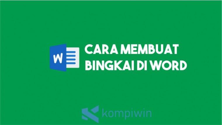 Cara Membuat Bingkai Word