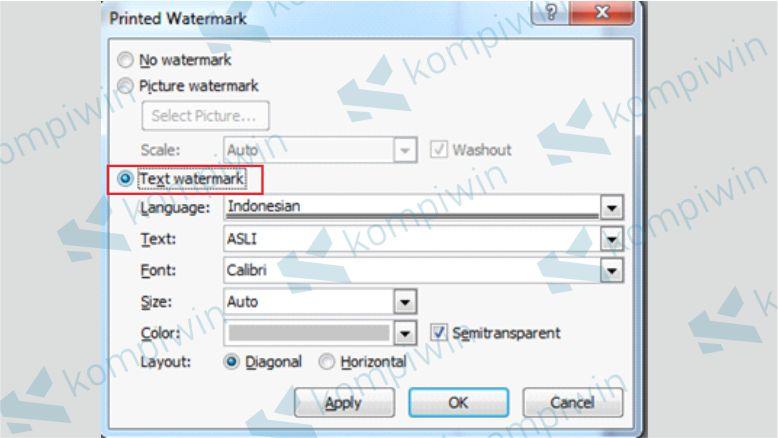 Cara Menambahkan Text Watermark