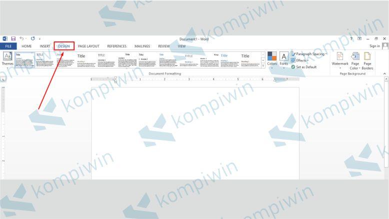 Cara Mudah Mengganti Background Lembar Kerja di Word