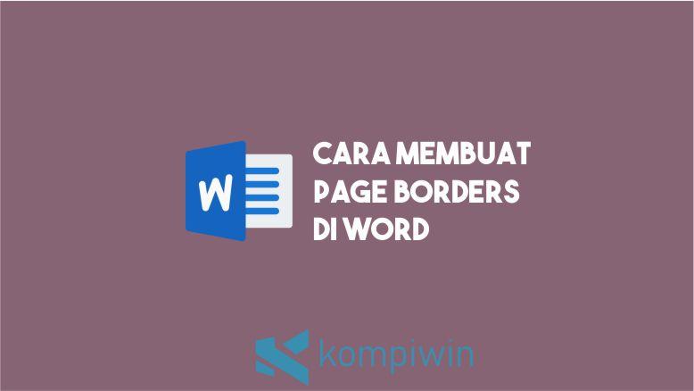 Cara membuat Page Borders di Word