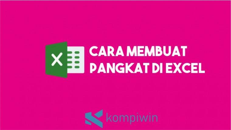 Cara membuat pangkat di Excel