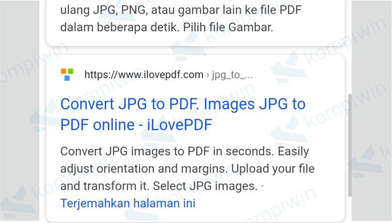 Cari dan buka situs IlovePDF