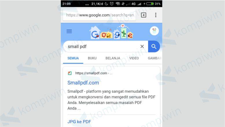 Cari smallpdf di Google