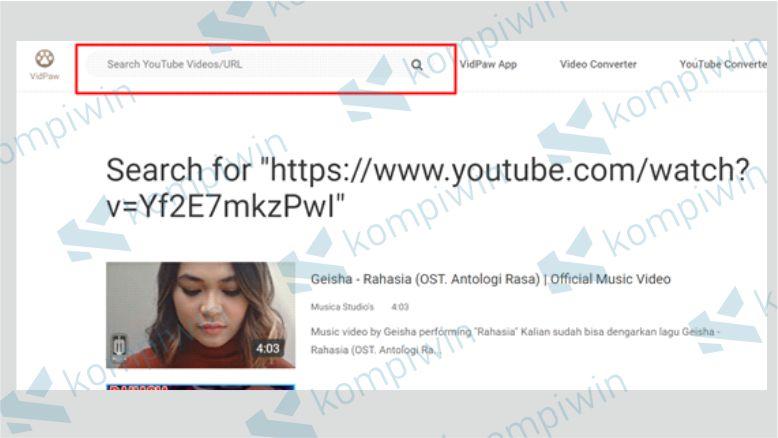 Download Video Youtube lewat Vidpaw
