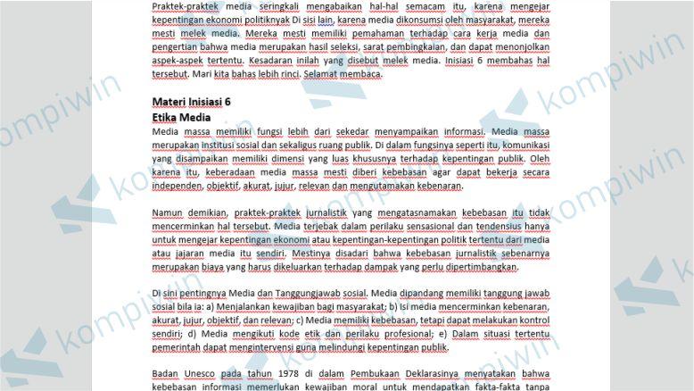 Garis Merah di Dokumen Word