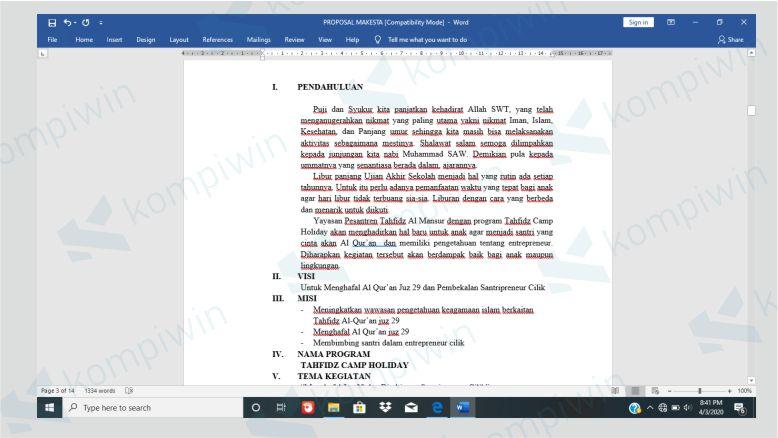 Hasil Dokumen dengan Margin Skripsi