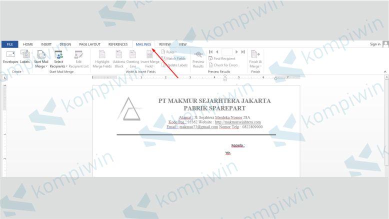 Kik Tab Mailings