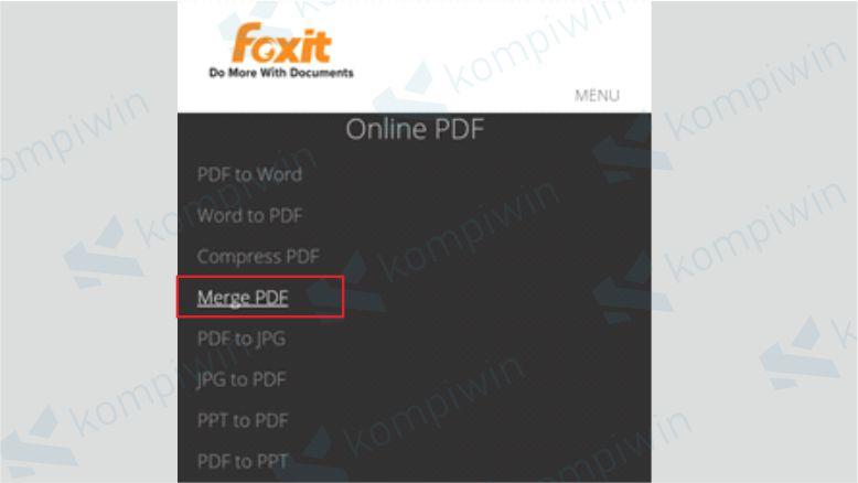 Klik Menu Merge PDF