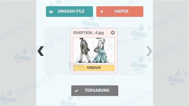 Klik unduh untuk mendownload hasil convert file JPG ke PDF