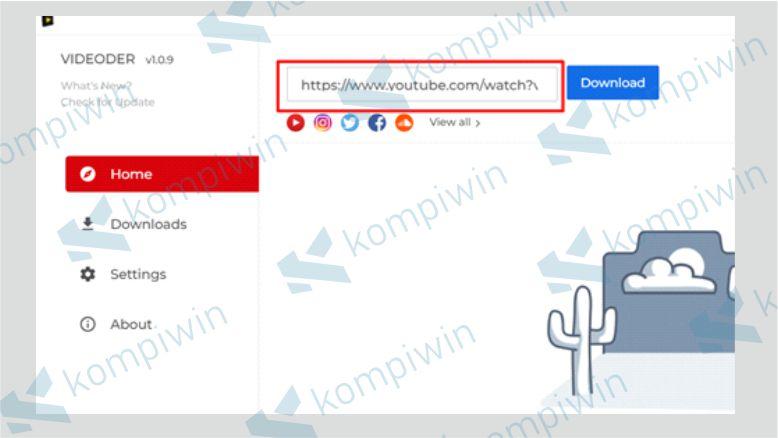 Masukkan URL Video Youtube di Videorder