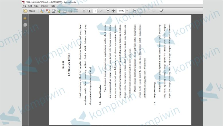 Merotasi PDF dengan Adobe Reader