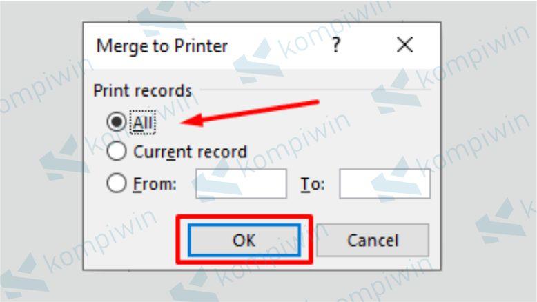 Mulai Mencetak Hasil Mail Merge