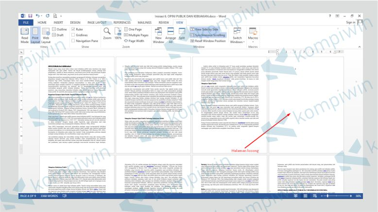 Page Break atau Halaman Kosong pada Word