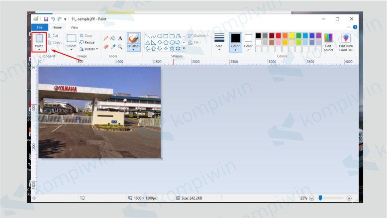 Paste File JFIF yang Ingin Diubah ke JPG di Paint