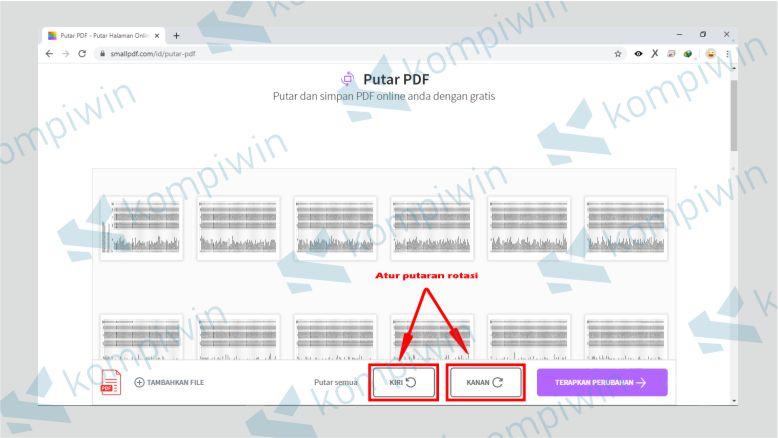 Rotasi PDF dengan SmallPDF