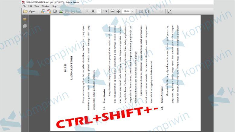 Rotasi PDF dengan Tombol Shortcut