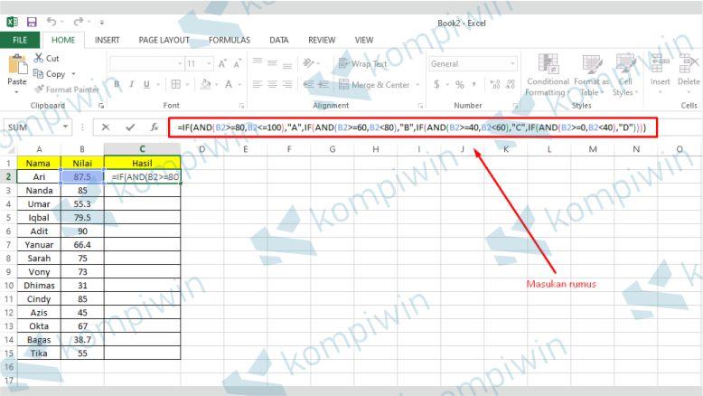 Rumus IF Bertingkat Excel Lebih Rumit