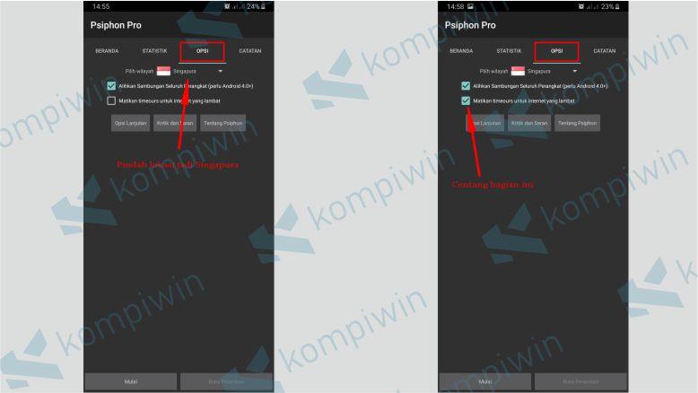 Setting Aplikasi Psiphon Pro