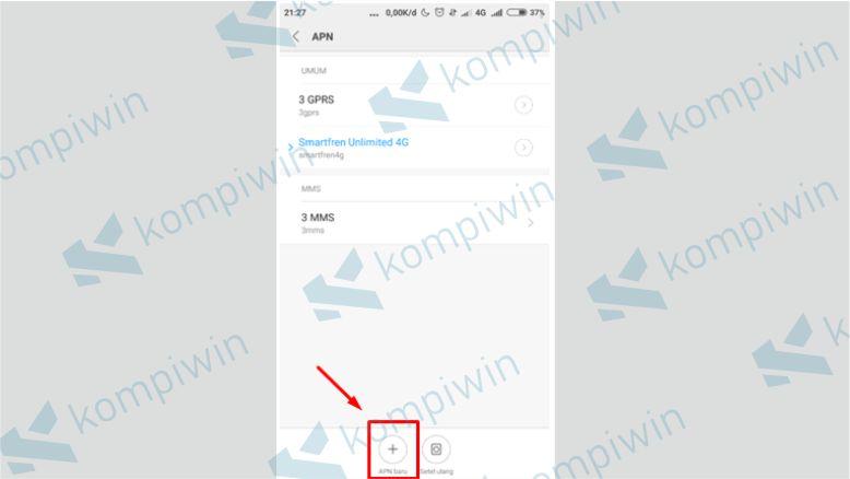 Tambahkan APN baru untuk Smartfren