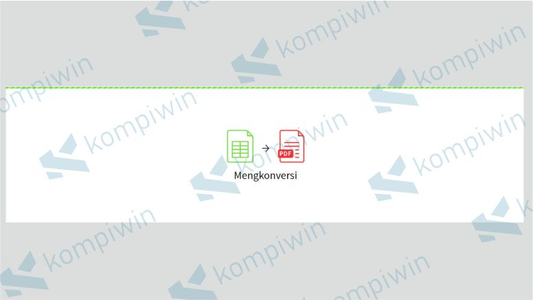 Tunggu proses konversi Excel ke PDF secara online