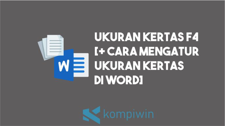 Ukuran F4 di Word
