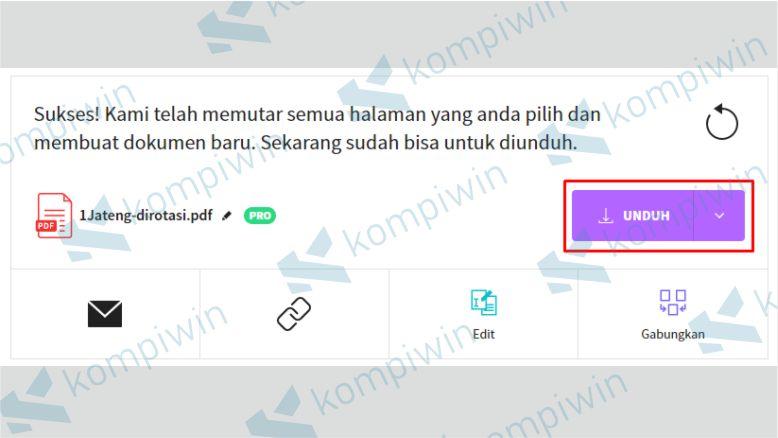 Unduh File PDF yang Dirotasi