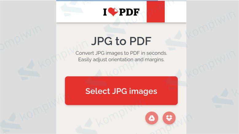 Unggah file JPG yang akan diubah