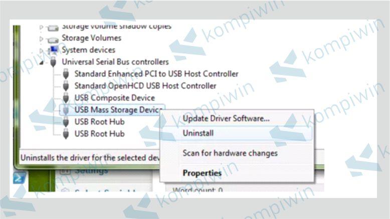 Uninstall Driver USB