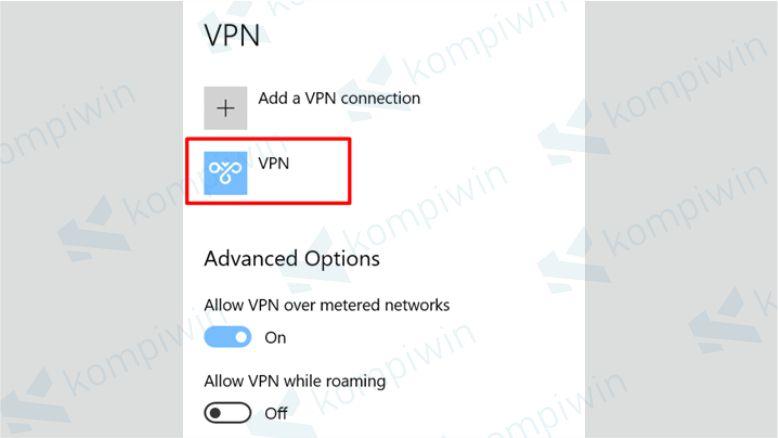 VPN Berhasil Ditambahkan